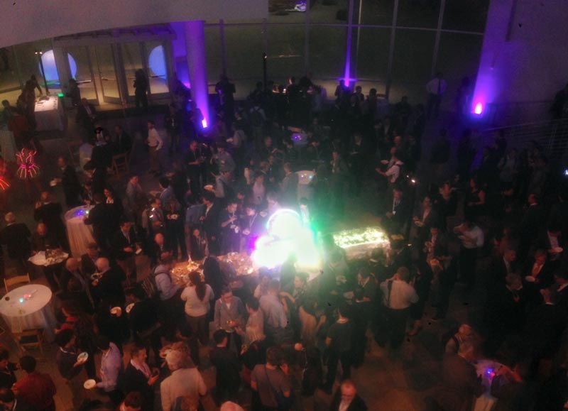 "The ""International Year of Light"" reception as seen from above. Photo by Steven Torrisi."