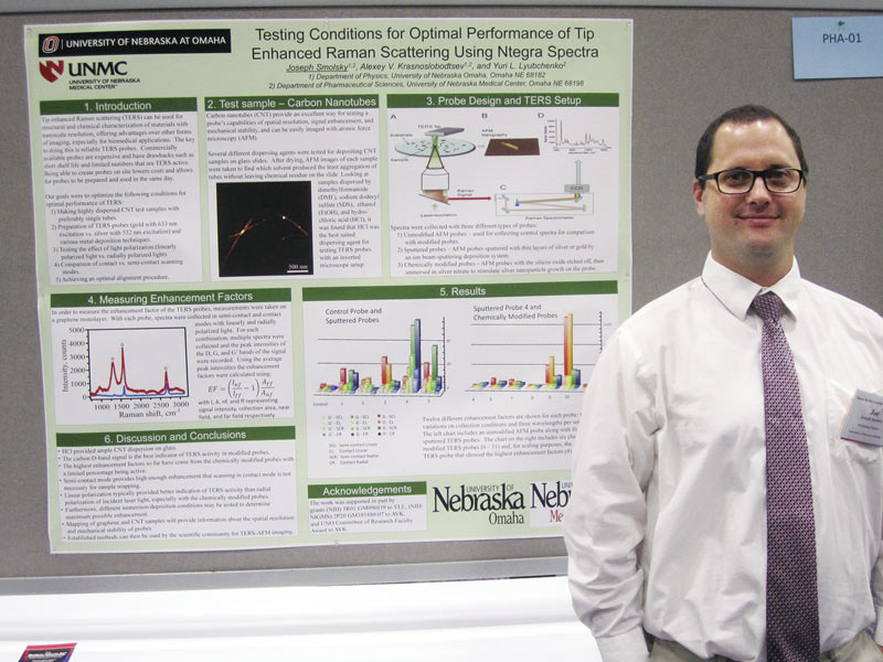 SPS Reporter Joseph Smolsky is pictured with his research poster. Photo courtesy of Joseph Smolsky.