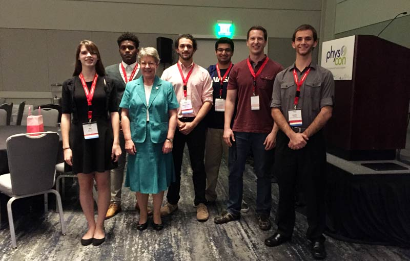 Fresno State SPS Members with Dr. Jocelyn Bell Burnell.