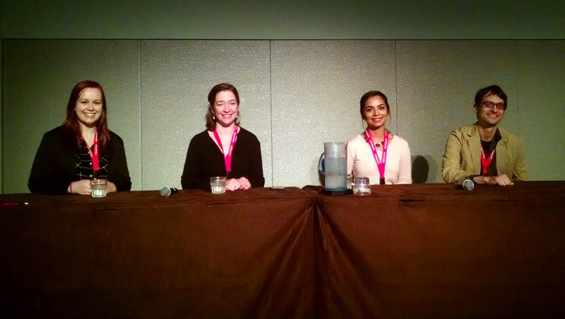 Panelists (left to right) Kelby Peterson, Katherine Zaunbrecher, Aman Gill and Chris Faesi.