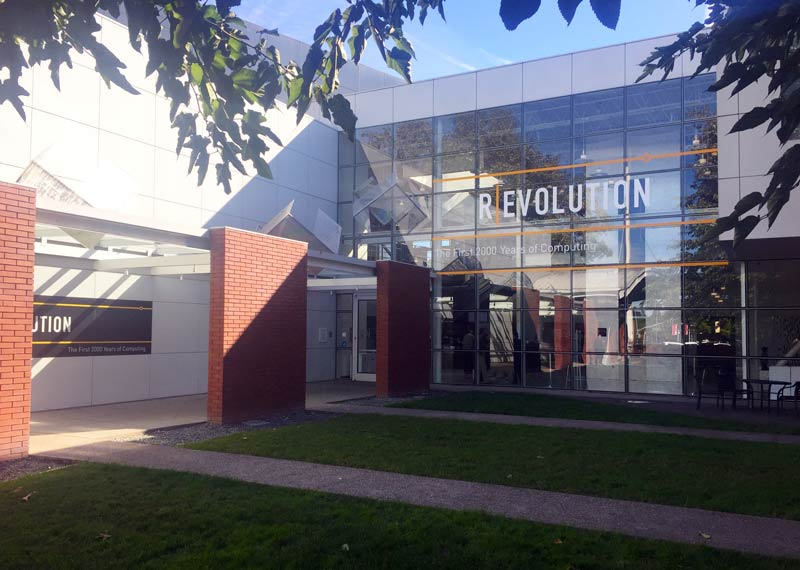 Outside the Computer History Museum.
