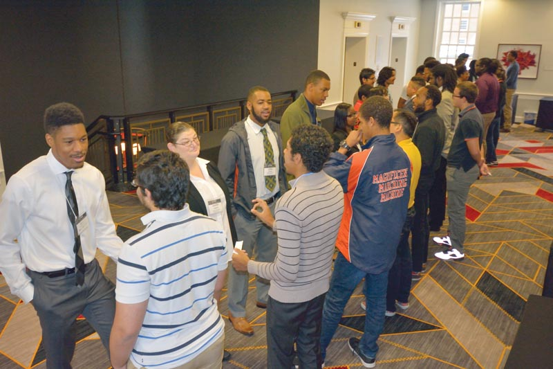 "CU2MiP participants share outcomes from group discussions during the ""I, too, am..."" Stereotyping and Microagressions Workshop. Photo courtesy of Donna Hammer, University of Maryland."