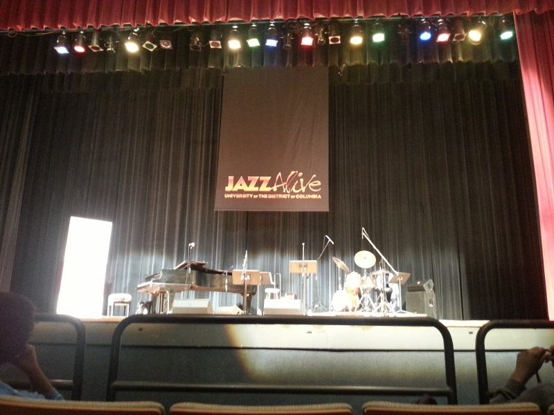 Stage at UDC before the JazzAlive concert
