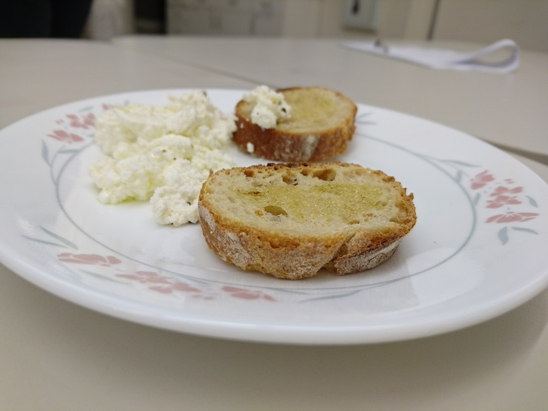 Ricotta Cheese on Bread