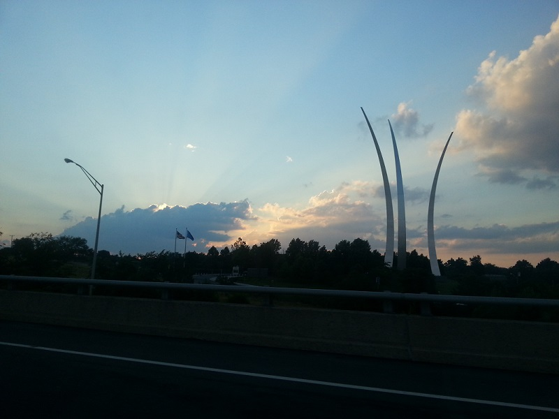 Sunset and Airforce Memorial