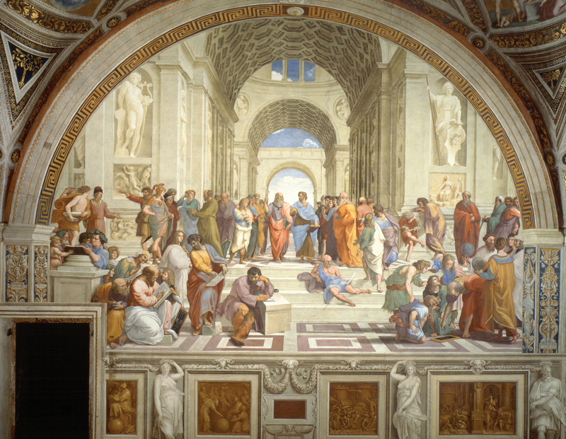 """The School of Athens,"" by Raphel. Public domain image, courtesy of wikipaintings.org."