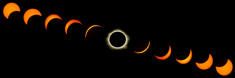 Solar eclipse transition from Caims, Australia. Image credit - iStock.com
