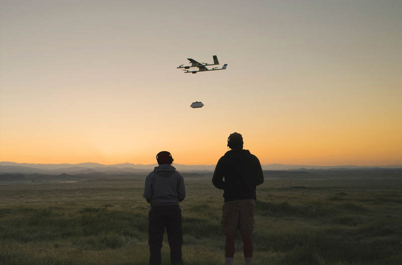 The Project Wing team is testing automated flight and delivery in rural California. Photo courtesy of Project Wing / X