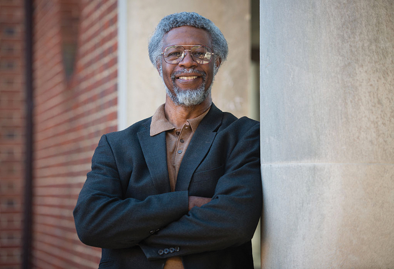 S. James Gates is pictured outside the physics building at the University of Maryland, College Park. Photo by Sarah L. Voisin/The Washington Post via Getty Images.