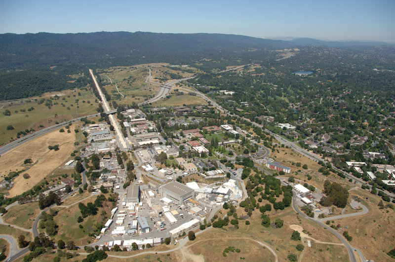 SLAC National Accelerator Laboratory is home to a two-mile linear accelerator—the longest in the world. Originally a particle physics research center, SLAC is now a multipurpose laboratory for astrophysics, photon science, accelerator, and particle physics research. Photo courtesy of SLAC National Accelerator Laboratory.