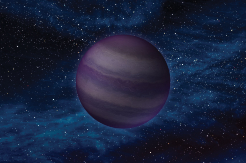 Artist's concept of a cool brown dwarf. Credit NASA/JPL-Caltech