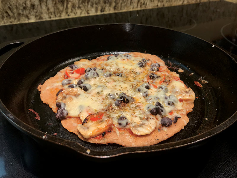 A skillet pizza. Hungry yet? Photo by Carla Ramsdell.