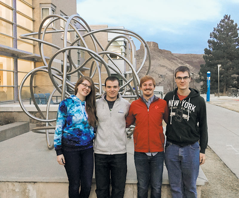 The Colorado School of Mines Sigma Pi Sigma chapter officers. Photo courtesy of Colorado School of Mines.