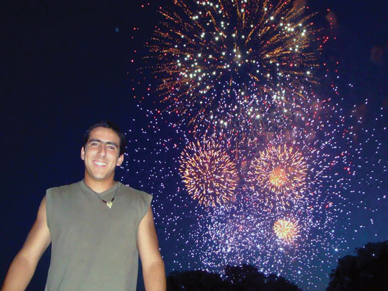 Ro Avila watches fireworks on the Fourth of July from the National Mall. Photo courtesy of Ro Avila.