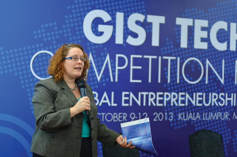 Anna Quider speaks at the Global Entrepreneurship Summit in Kuala Lumpur, Malaysia.