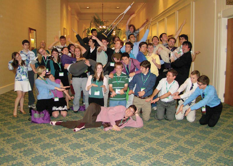 Our chapter at the 2012 PhysCon. Photo by Glenn Marsch.