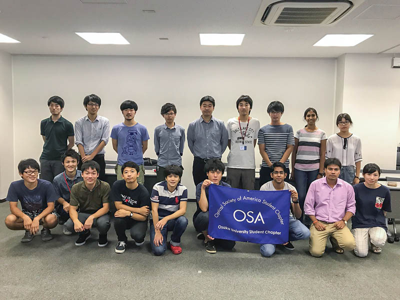 The OSA Student Chapter at Osaka University attends the Traveling Lecturer Seminar in August 2017. Photo courtesy of the Osaka University OSA Student Chapter.