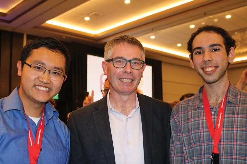 From left to right - Chunyang Ding, Dr. Patrick Brady, and Mehmet Tuna Uysal. Photo courtesy Chunyang Ding