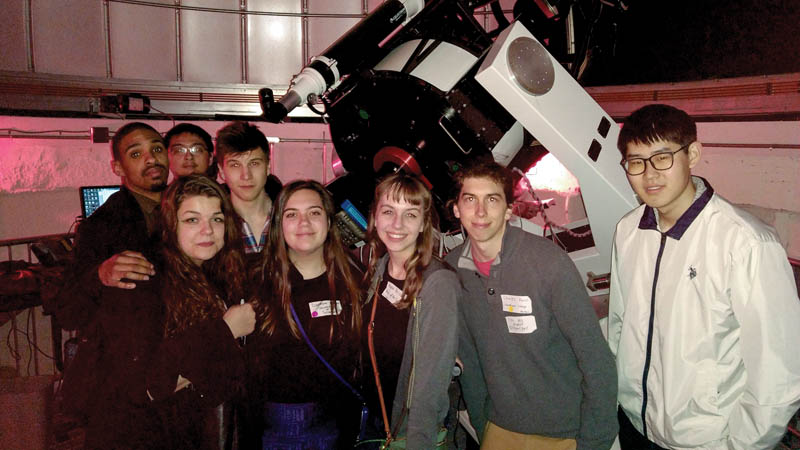 Swarthmore and University of the Sciences students at the Peter van de Kamp Observatory. Courtesy of Jackie Pezzato.