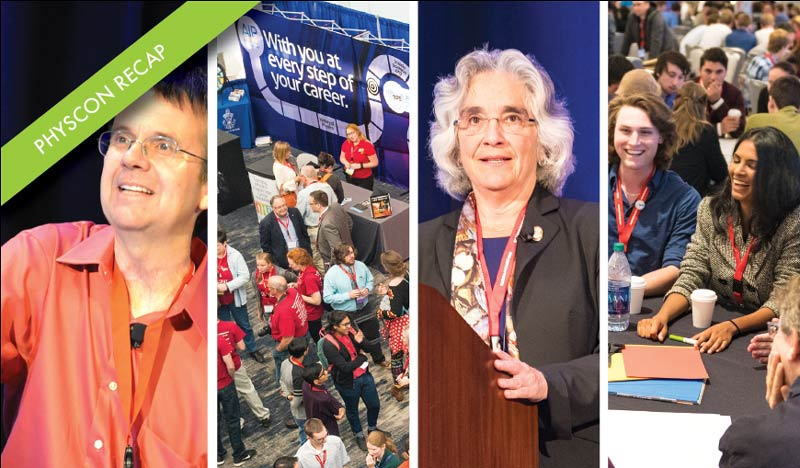Scenes from PhysCon 2016. Photos courtesy of the American Institute of Physics.