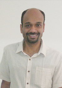 Computational physicist Rajesh Sathiyanarayanan. Photo by Uma Ramanathan.