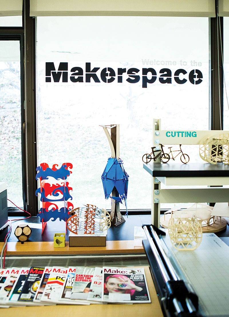 Mount Holyoke College's Makerspace provides a welcoming environment for hands-on technical experimentation and coursework.