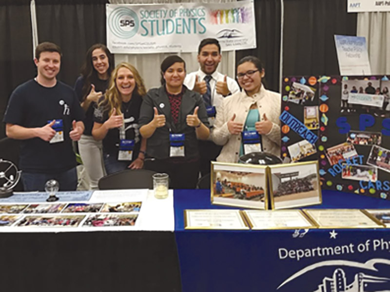 Students from the University of San Diego showing off their SPS chapter. Photo courtesy of SPS National.
