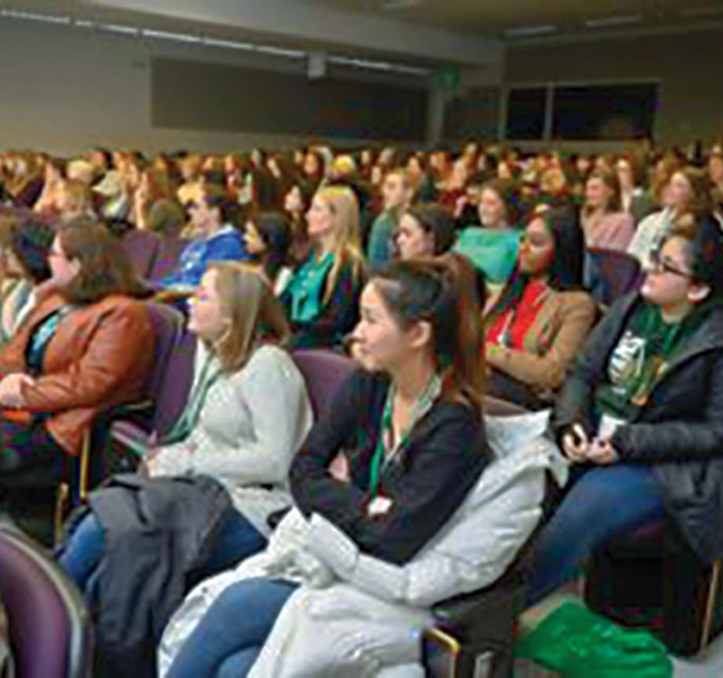 More than 150 women attended the Midwest regional session of the national Conferences for Undergraduate Women in Physics on Jan. 18–20. Photo credit |  Harley J. Seeley, University of Michigan.