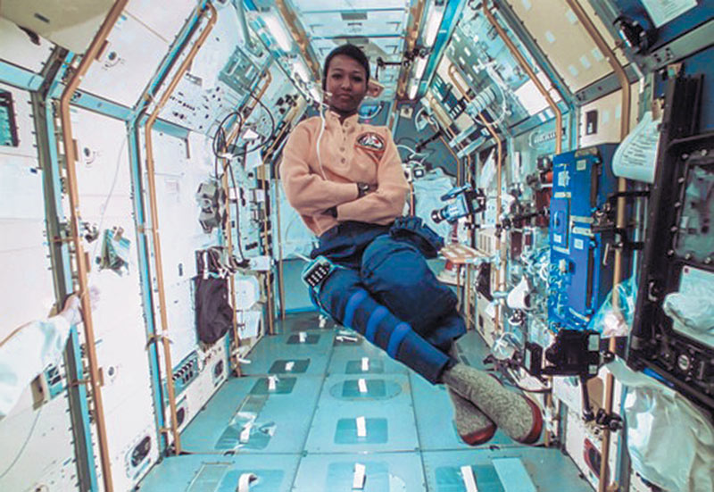 The first African American woman in space, Dr. Mae C. Jemison. Photo courtesy of The Museum of Fine Arts, Houston.