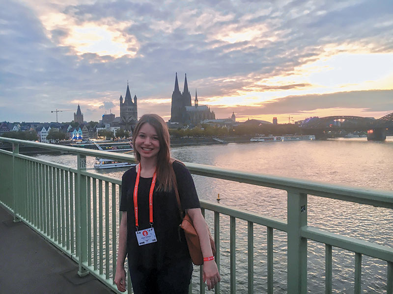 Accommodations for ICPS were located within walking distance of the Cologne Cathedral, right across the Rhine River. Photo courtesy of Megan Anderson.