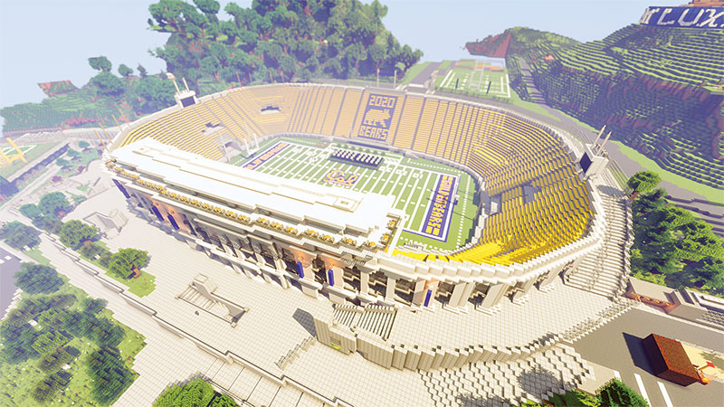 Blockeley University's Memorial Stadium. Image courtesy of Blockeley University.