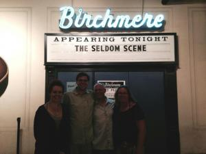 Kelby, myself, my Dad, and my Mom (from left to right) at the Birchmere, following the Seldom Scene Concert.