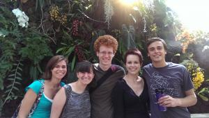 Me, Kirsten, Mark, Kelby, and Stephen in the orchid room at the United States Botanic Garden.