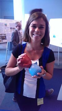 Me with a model of Eta Carinae, the stellar nebulae that Nick is studying at NASA Goddard.