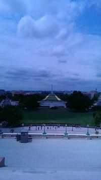 View from the West side of the Capitol Building out over the site of the presidential inauguration ceremony.