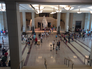 Inside the Capitol visitor center.