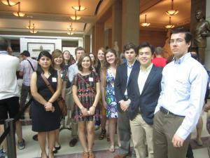 SPS interns at the US Capitol