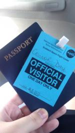 NASA visitor pass