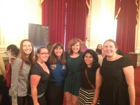 SPS Interns with Astronaut Cady Coleman