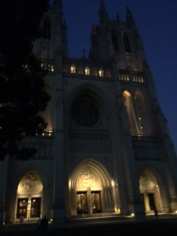Running to the National Cathedral after it finally cools off