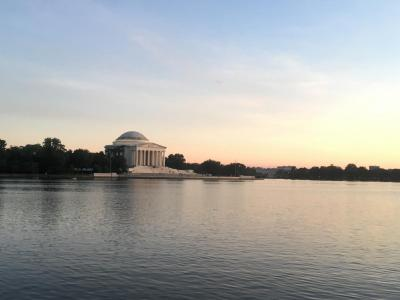 Sunset over the Jefferson Memorial