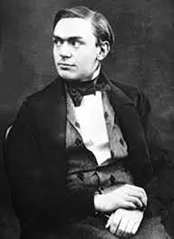 Alfred Nobel as a young man. (PDM).