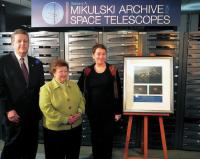 From blue jeans to suits. As deputy director of STScI, I rub elbows with dignitaries such as STScI Director Matt Mountain (left) and Senator Barbara Mikulski (center). I contribute to things that will matter for decades to come. Photos courtesy of Kathryn Flanagan & STScI.