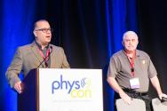 PhysCon 2016 Planning Committee Co-chairs Bill DeGraffenried and Steve Feller. Photo by Ken Cole