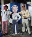 Arvind Srinivasan and Grant Burgess hanging out with Richard Feynman