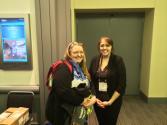 Warecki with SPS Director Toni Sauncy.