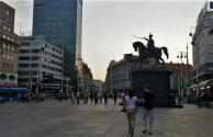 The Zagreb city center, or main square, is recognizable for the statue of King Josip. It is also a pretty important stop to know for the trams, as I realized after missing it once.