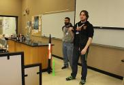 Henderson students present a Take 5 on rocketry.