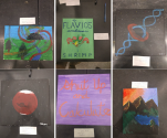 Some photos from the `Paint Your Research' activity.