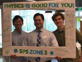 SPS Zone 3 Meeting Keynote Speaker and Director of Thomas Jefferson Hospital's Medical Physics Program Dr. James Keller poses with Zone 3 SPS members.